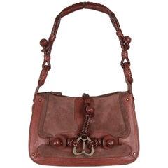 ALEXANDER MCQUEEN Brown Suede & Leather SHOULDER BAG