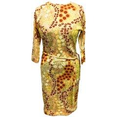 Vintage Goldworm Dress - 1960's