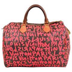 "Louis Vuitton X Stephen Sprouse Hot Pink Brown Graffiti Monogram ""Speedy 30"" Bag"
