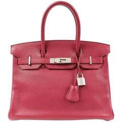 Hermès Ruby Red Togo Leather 30 cm Birkin Bag PHW