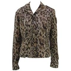 Dolce & Gabbana D&G Snakeskin Windbreaker Jacket