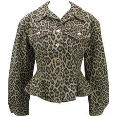 Junior Gaultier Leopard Print Corset Jacket