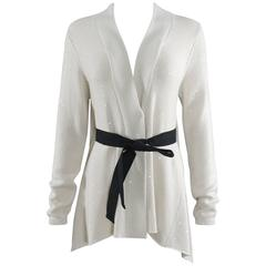 brunello cucinelli ivory cashmere sequin sweater cardigan