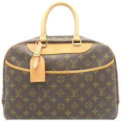 Louis Vuitton Deauville Brown Monogram Canvas Handbag