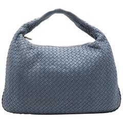 Bottega Veneta Blue Intrecciato Leather Hobo Bag