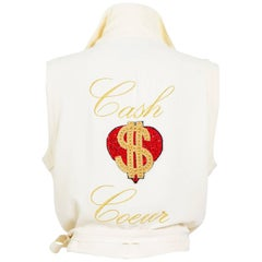 Moschino 1980's couture beaded cash coeur wrap top