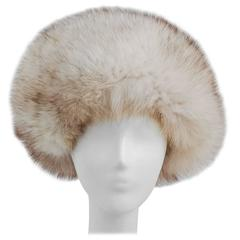 60s Adolfo II White Fox Fur Hat
