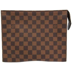 Louis Vuitton Brown Monogram Men's Women's Travel Toiletry Clutch Bag
