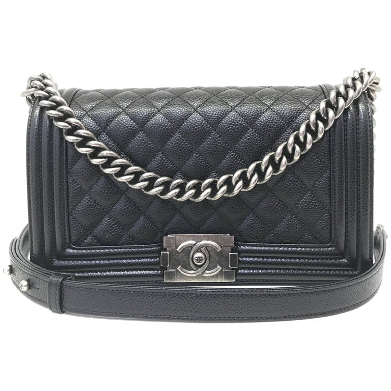 cc355470951f Chanel Boy Bag Caviar Leather | Stanford Center for Opportunity ...