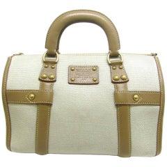 Louis Vuitton Canvas Leather Cognac Speedy 30 Carryall Top Handle Satchel Bag