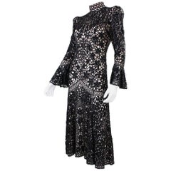 Eavis and Brown Beaded Lace Evening Dress