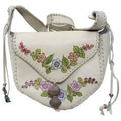 1970's Char Bohemian Painted Leather Handbag