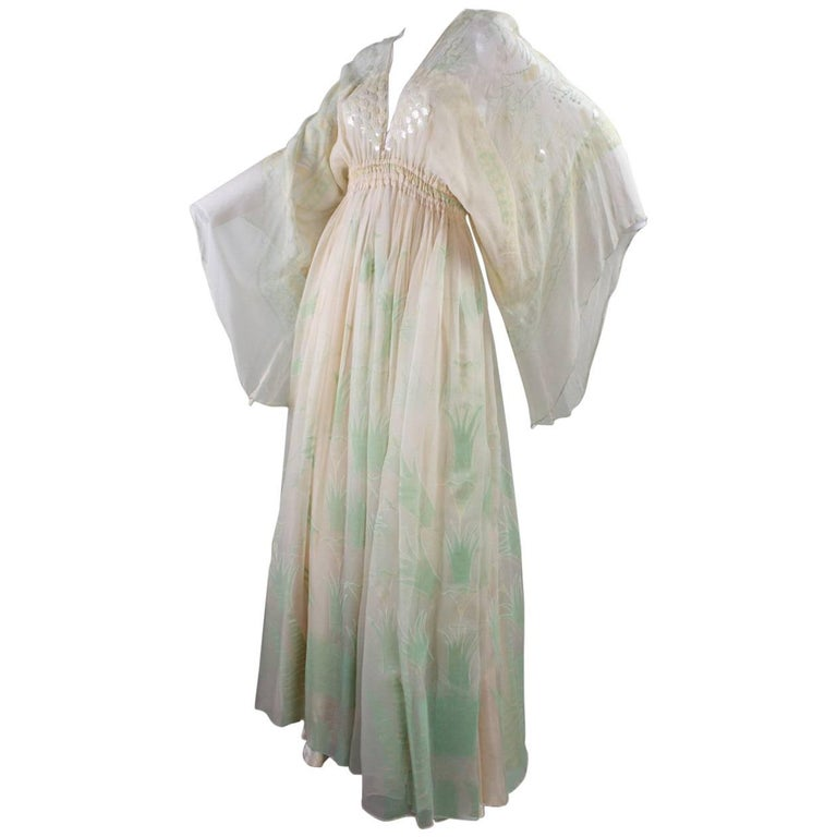 1970's Zandra Rhodes Field of Lilies Gown 1
