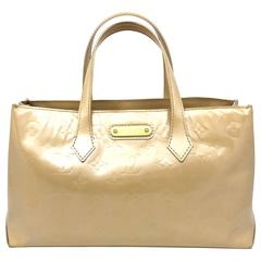 Louis Vuitton Wilshire Boulevard Nude Monogram Vernis Handbag