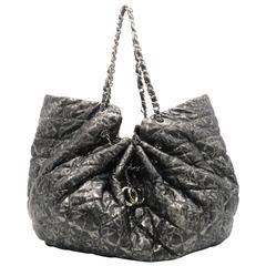 Chanel Nylon Grey Chain Shoulder Bag