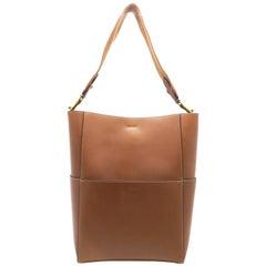Celine Sangle Brwon Calfskin Leather Shoulder Bag