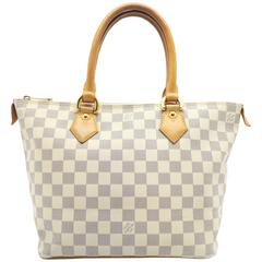Louis Vuitton Saleya PM White Damier Azur Tote Bag