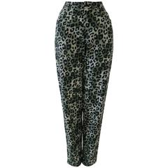 Istante By Gianni Versace Foot Printed Jeans Pants Fall 1992