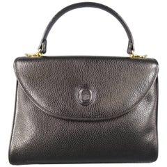 Vintage MARK CROSS Black Pebbled Leather Gold Hardware Murphy Satchel Handbag