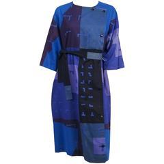 60s Marimekko Geometric Printed Cotton Dress