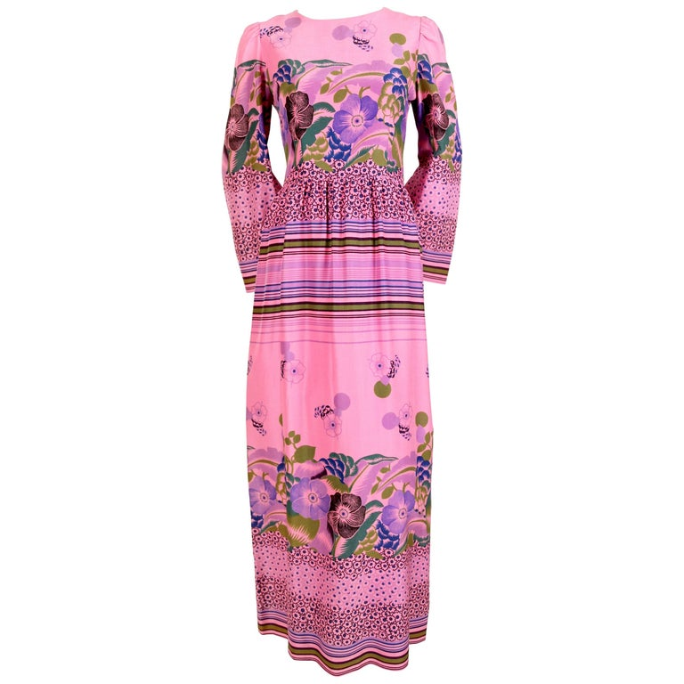 1960 39 s lanvin haute couture floral crepe dress at 1stdibs for 1960 s haute couture