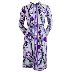 1960's EMILIO PUCCI silk floral silk dress
