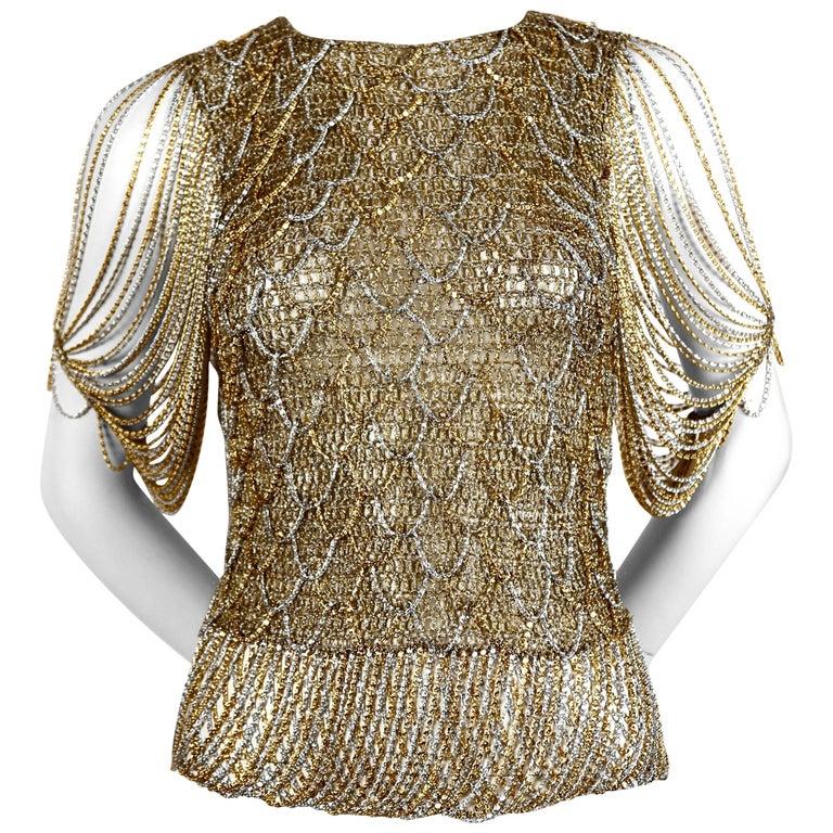 LORIS AZZARO sweater with metal chain - 1973