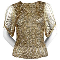 LORIS AZZARO sweater with metal chain - 1973