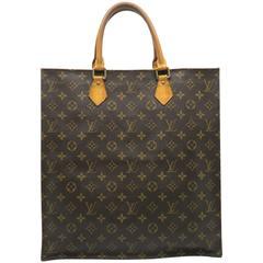 Louis Vuitton Sac Plat Brown Monogram Canvas Tote Bag