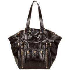 YSL Brown Leather Downtown