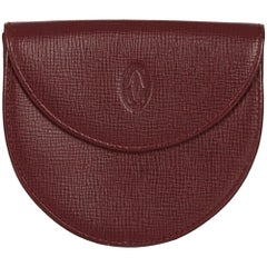 Cartier Red Leather Coin Pouch