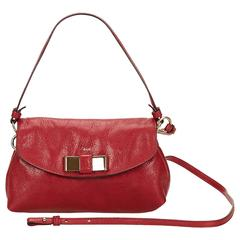 Chloe Red Leather Lily