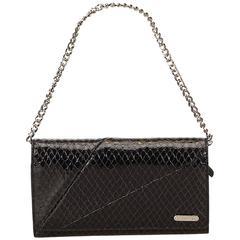 Celine Black Embossed Leather Long Wallet