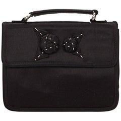 Prada Black Satin Clutch Bag