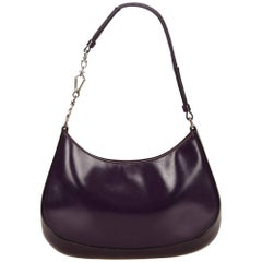 Prada Purple Leather Shoulder Bag