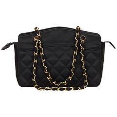Chanel Black Satin Handbag