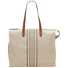 Hermes Brown Canvas Cabas
