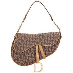 Dior Brown Diorissimo Jacquard Saddle