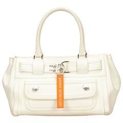Dior White Leather Tote