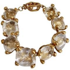 Goossens Paris 8 Rock Crystal Clasp Bracelet