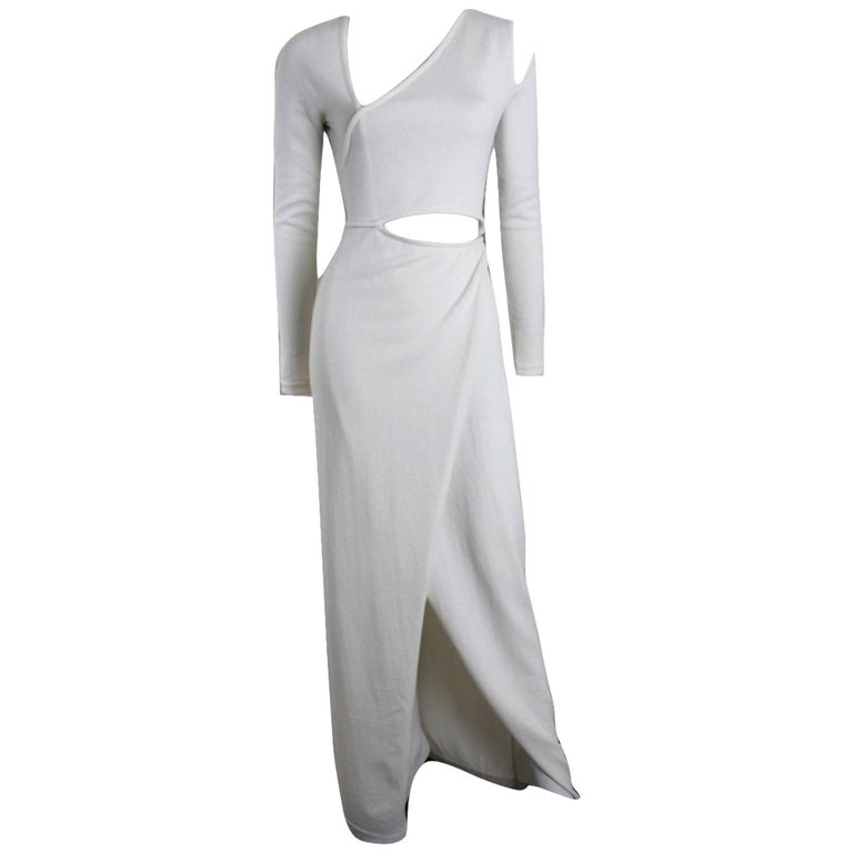 Halston Fall 2011 Ivory 100% Cashmere Runway Dress