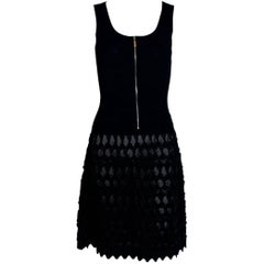 "Chanel 3D ""Little Black Dress"" Knit Dress with CC Zipper Detail Peekaboo!"