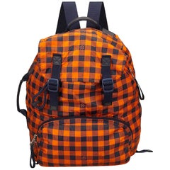Louis Vuitton Orange and Black Canvas Damier Adventure Backpack