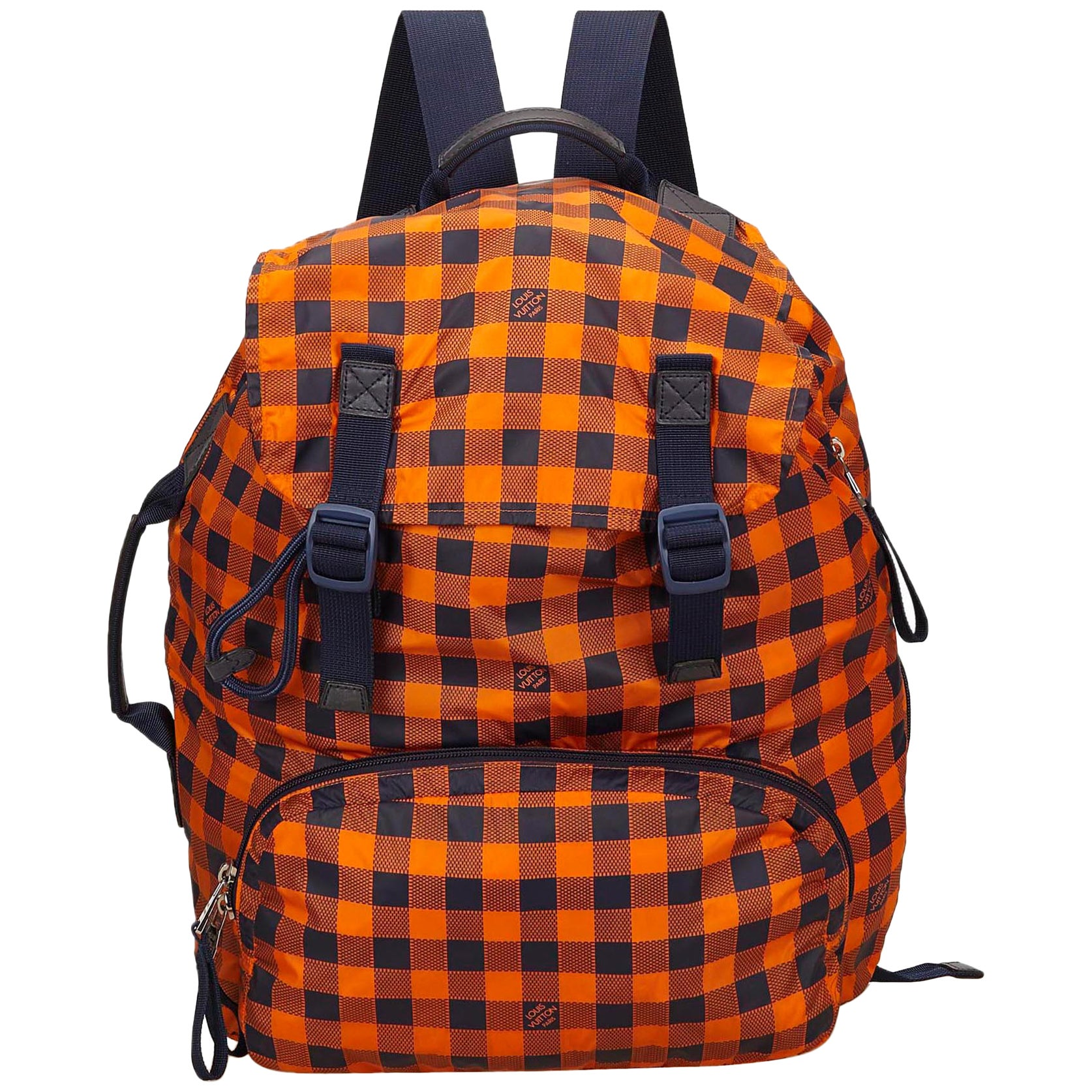 eba917a50562 Louis Vuitton Orange and Black Canvas Damier Adventure Backpack at 1stdibs