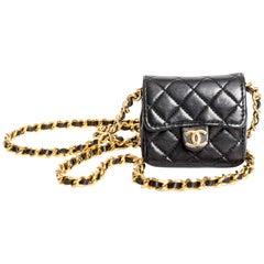 Vintage Chanel Mini Mini Matelasse Chain Bag Necklace