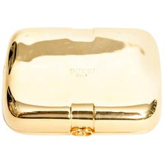 Vintage Gold Gucci Card Holder / Small Clutch