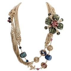 Rare Vintage Chanel Gripoix / Pate de Verre Belt / Necklace
