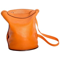 Hermes Sherpa Backpack in Orange Clemence Leather