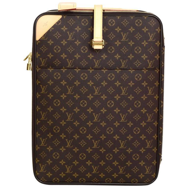 77eaca3473fb Louis Vuitton Monogram Pegase Legere 55 Rolling Luggage Wheely Bag For Sale