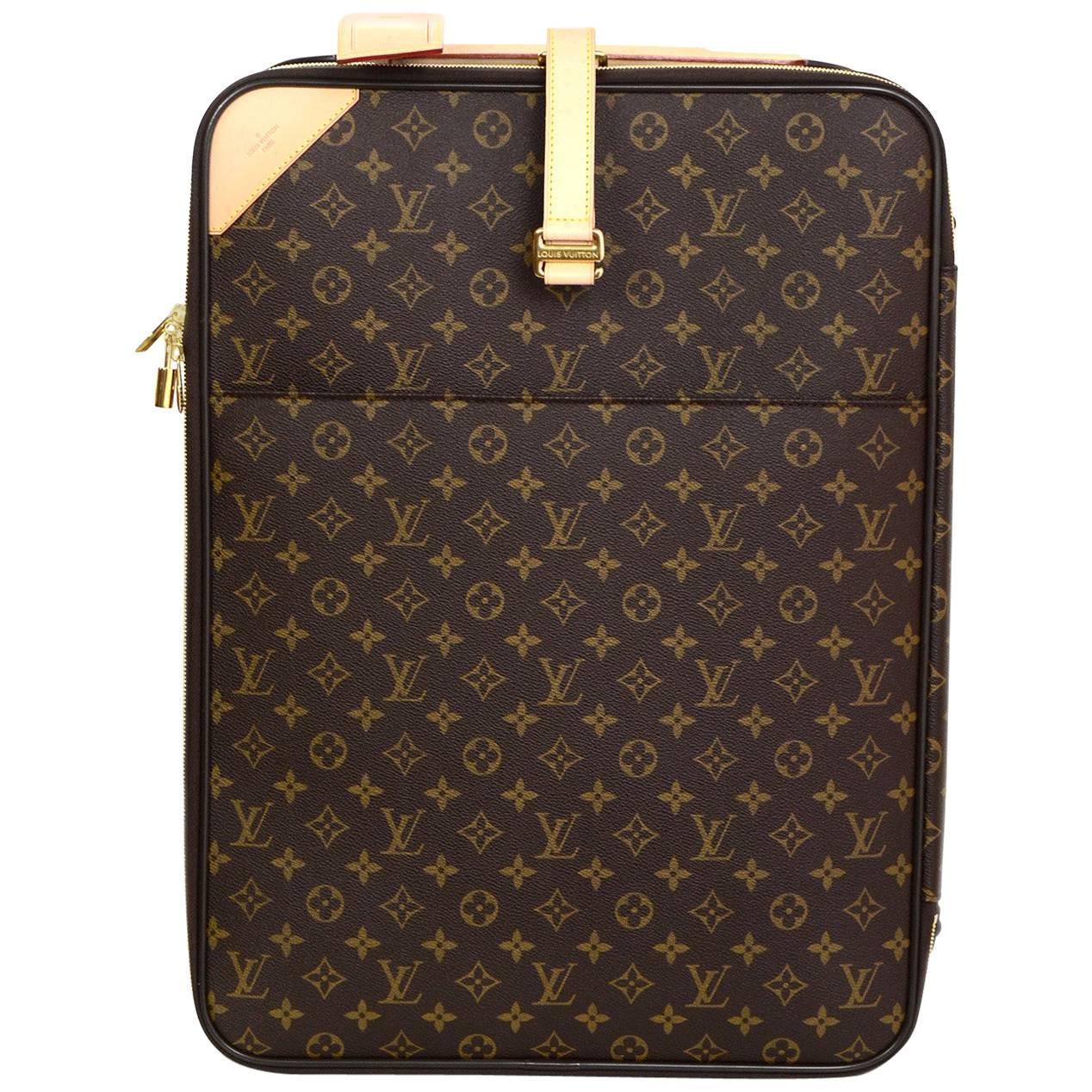 Louis Vuitton Fusain Brown Monogram Idylle Pegase 55 Rolling Luggage ZkQbrse3B